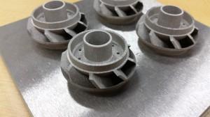 金属3Dプリンターテストサンプル