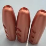 美容用品 切削後ショットブラスト、指定カラーでのアルマイト処理